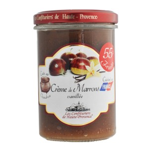 """Crème de marrons vanillée """"Les Confituriers de Haute-Provence""""  240g"""
