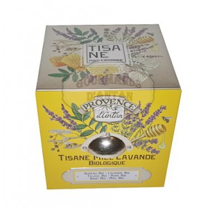 Tisane Miel & Lavande Bio Provence d'Antan - Boite cube métal