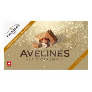 Avelines pralinés au chocolat au lait et caramel - Boite de 20 - 200g - Favarger