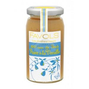 Confiture 100% Poire à la Vanille - Favols 250g