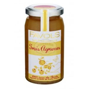 Confiture 100% trois agrumes - Favols 250g