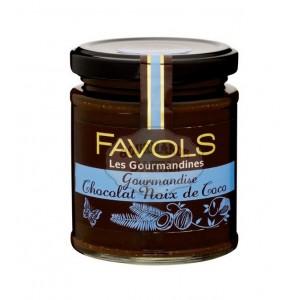 Gourmandise Noix de coco Chocolat (Pâte à tartiner) - Favols 220g