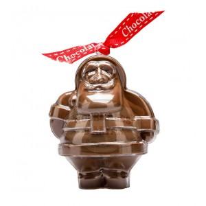 Père Noël en chocolat au lait dans son moule à réutiliser - 60g Bovetti