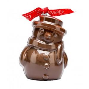 Bonhomme de neige en chocolat au lait dans son moule - 60g Bovetti