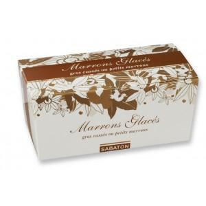 Marrons glacés (Gros cassés ou petits marrons) d'Ardèche Sabaton - Ballotin 750g