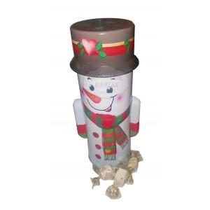 Bonhomme de neige Noël - Nougat Jonquier - Boite métal 200g
