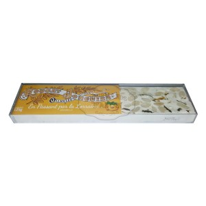 Nougat Blanc tendre MIRABELLE - Nougat Jonquier - Barre 125g
