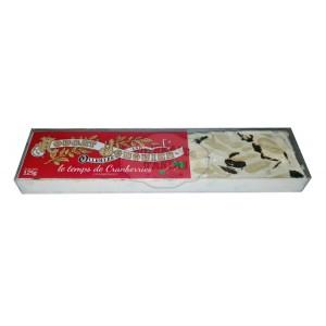 Nougat Blanc Tendre CRANBERRIES - Nougat Jonquier - Barre 125g