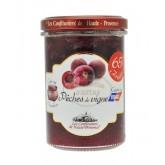 """Confiture Pêches de vignes  """"Les Confituriers de Haute-Provence""""  370g"""