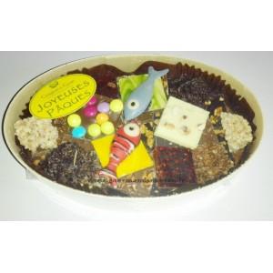 Chocolats PÂQUES Assortiment - Comptoir du cacao - Boite en bois 300g