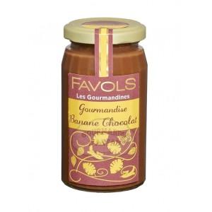 Gourmandise Banane Chocolat (Pâte à tartiner) - Favols 270g