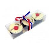 Le Pompon de Brest - Réglette de 3 chocolats - 30g