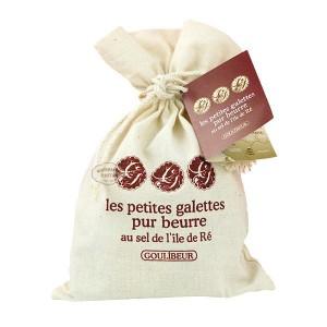 Galettes pur beurre au sel de l'île de Ré - Goulibeur - Sac coton 100g