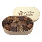 Assortiment chocolats Comptoir du cacao - Boite en bois 300g