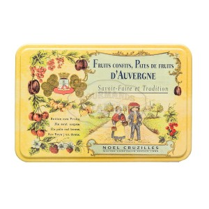 Pâtes de fruits d'Auvergne Cruzilles - Demi-Boite fer - 330g