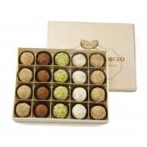Truffes fantaisies au chocolat pralinées (x20) - Boite en bois 260g