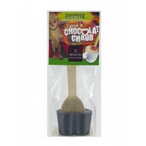 Chocolat chaud NOIR 71% Equateur - Cuillère bois Bovetti
