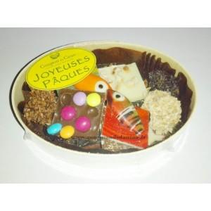 Chocolats Assortiments PÂQUES Comptoir du cacao - Boite en bois 150g