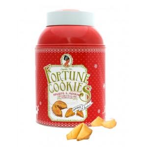 Fortune cookies Noël (Biscuits du bonheur) - Boite métal 100g