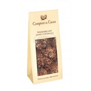 Croustines lait caramel au beurre salé - Comptoir du cacao 100g