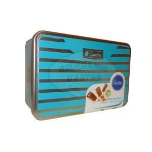 "Crêpes dentelle Gavottes Chocolat LAIT & CARAMEL - Boite fer ""Marin Bleu""  200g"