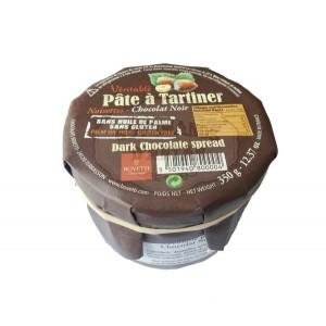 Pâte à tartiner Bovetti NOISETTES - Chocolat NOIR 350g