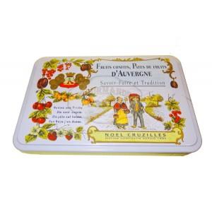 Pâtes de fruits d'Auvergne Cruzilles - Demi-Boîte fer mauve - 330g