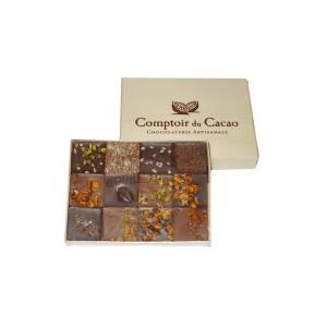 Coffret 12 Pralinés Feuilletés - Comptoir du Cacao - 120g