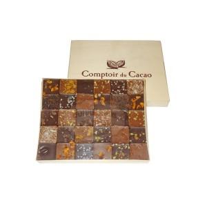 Coffret 30 Pralinés Feuilletés - Comptoir du Cacao - 300g
