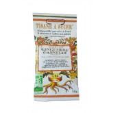 Biopastilles de tisane à sucer Gingembre-cannelle biologique - 15g (25 pastilles)