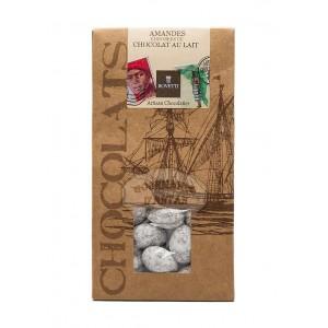 Amandes enrobées de chocolat au LAIT - Bovetti 120g