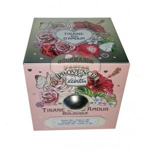 Tisane Jour d'Amour Bio Provence d'Antan - Boite cube métal
