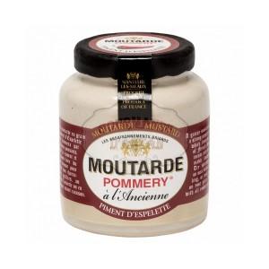 Moutarde au Piment d'Espelette Pommery® - Les Assaisonnements Briards 100g