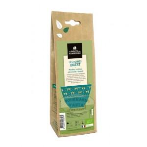Herbes Digest BIO (Menthe, mélisse, citronelle, fenouil) - La Route des Comptoirs