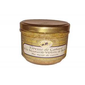 Terrine pur canard à la moutarde de Brive  - Elisabeth Patignac 180g