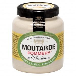 Moutarde Citron & Basilic Pommery® - Les Assaisonnements Briards 100g