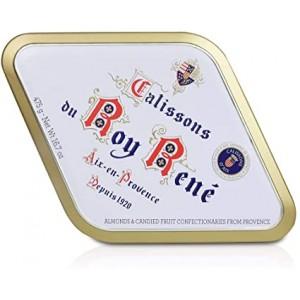 Calissons d'Aix Le Roy René - boite métal losange 475g (36 calissons)